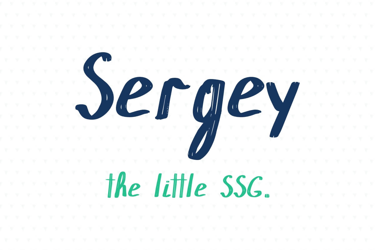 Sergey | the little SSG