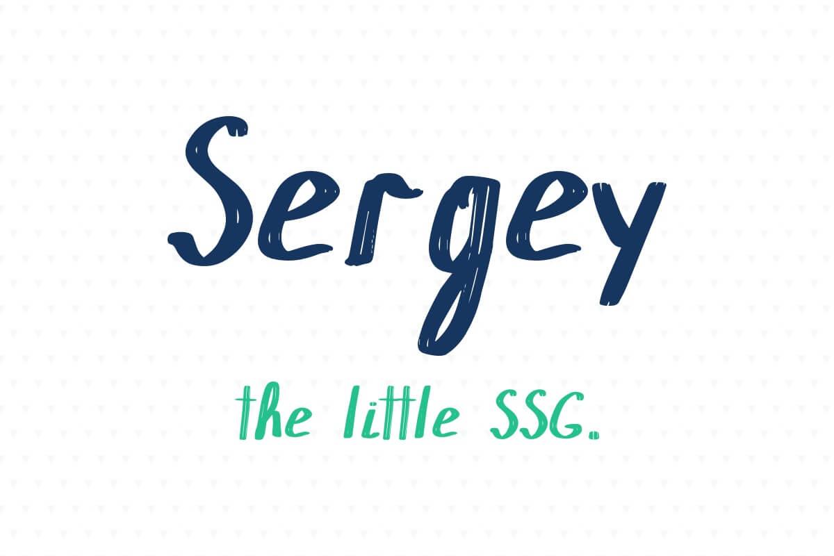Sergey   the little SSG
